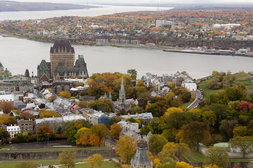 ...and it offers some pretty spectacular views of Quebec City. Photo © 2015 Aaron Saunders