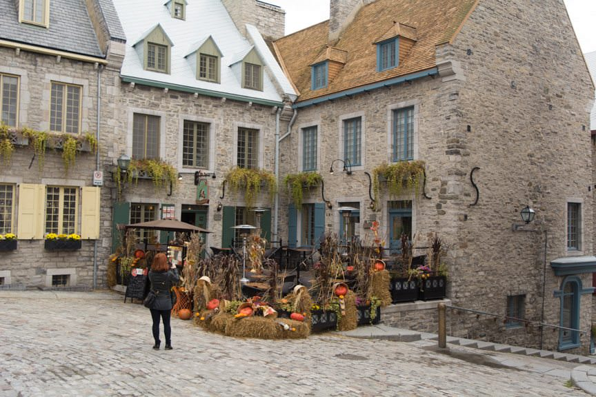 Halloween is out in force in the historic streets of Old Quebec. Photo © 2015 Aaron Saunders