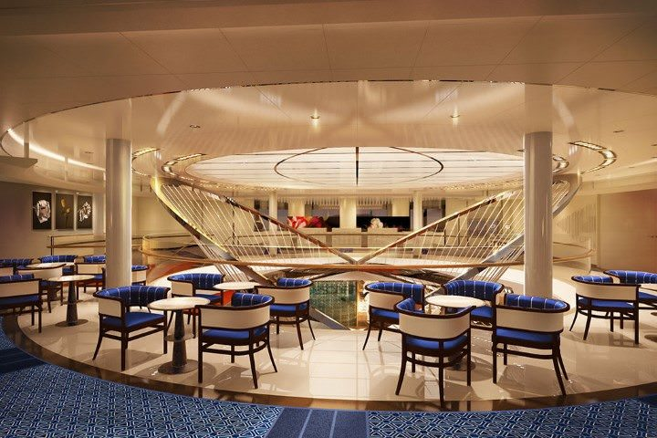 Koningsdam's Upper Atrium level. Illustration courtesy of Holland America Line