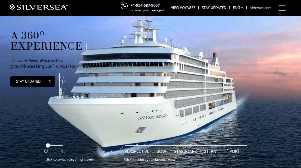 Silversea has launched a new microsite dedicated to the forthcoming Silver Muse. Don't forget to click-and-drag on this image to see the ship from 360-degrees!