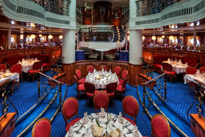 The main dining room aboard Royal Clipper. Photo courtesy of Star Clippers.