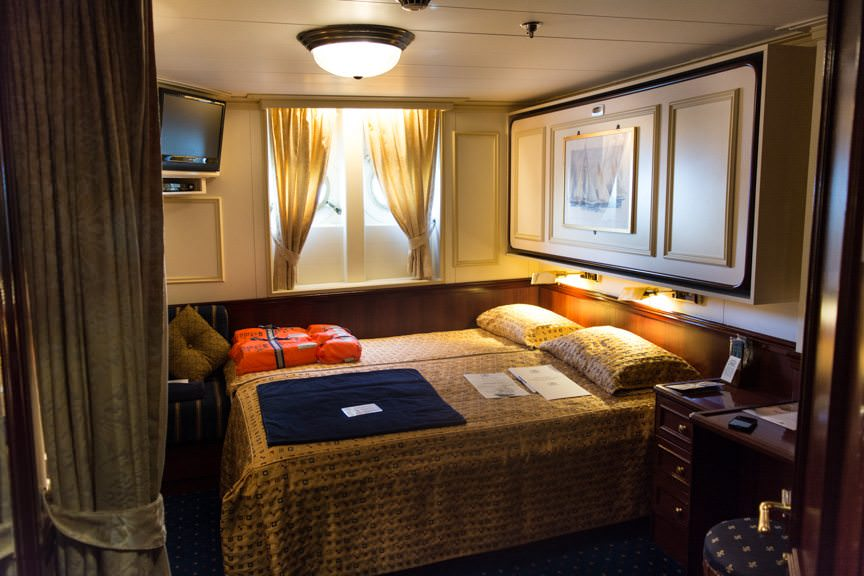 ...to my home for the next day: Category 3 Stateroom 116. Photo © 2015 Aaron Saunders