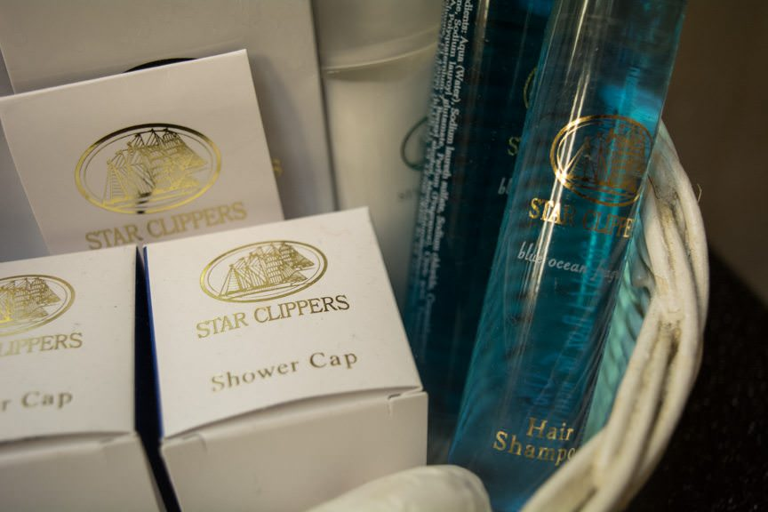 Star Clippers-branded toiletries. Photo © 2015 Aaron Saunders