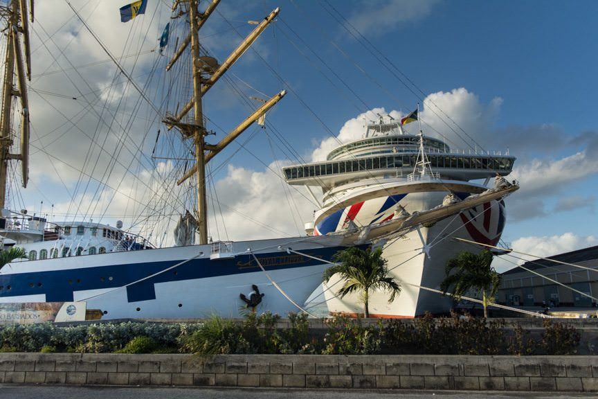 Don't like big cruise ships? Royal Clipper, left, could be the ship for you! Photo © 2015 Aaron Saunders