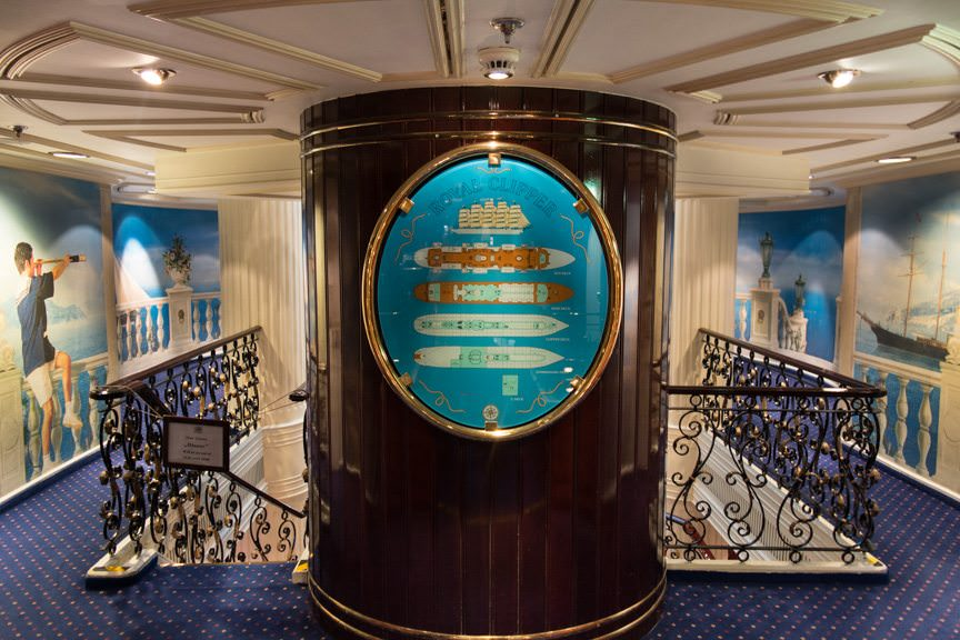 Nautical touches are everywhere. Royal Clipper has some of the nicest interior design, recreating the glory days of sail and transoceanic travel. Photo © 2015 Aaron Saunders
