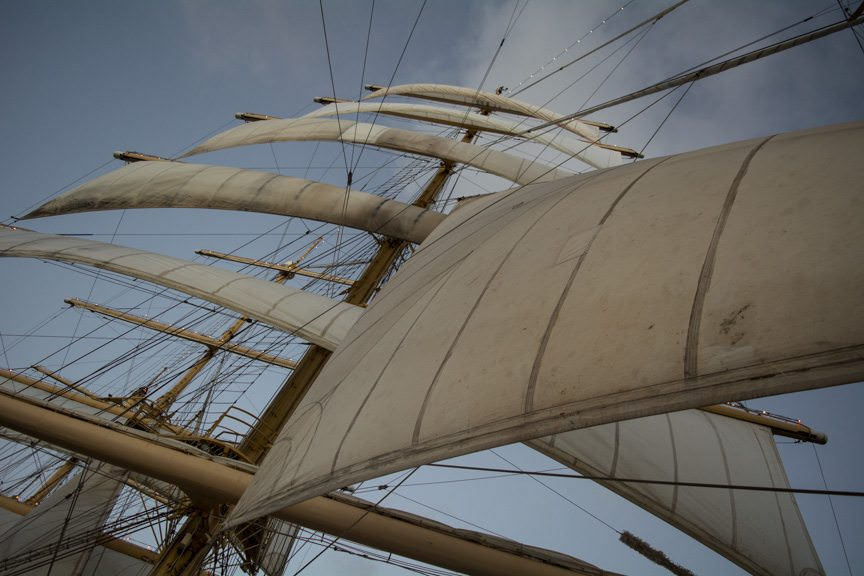 ...to hoist Royal Clipper's sails...Photo © 2015 Aaron Saunders
