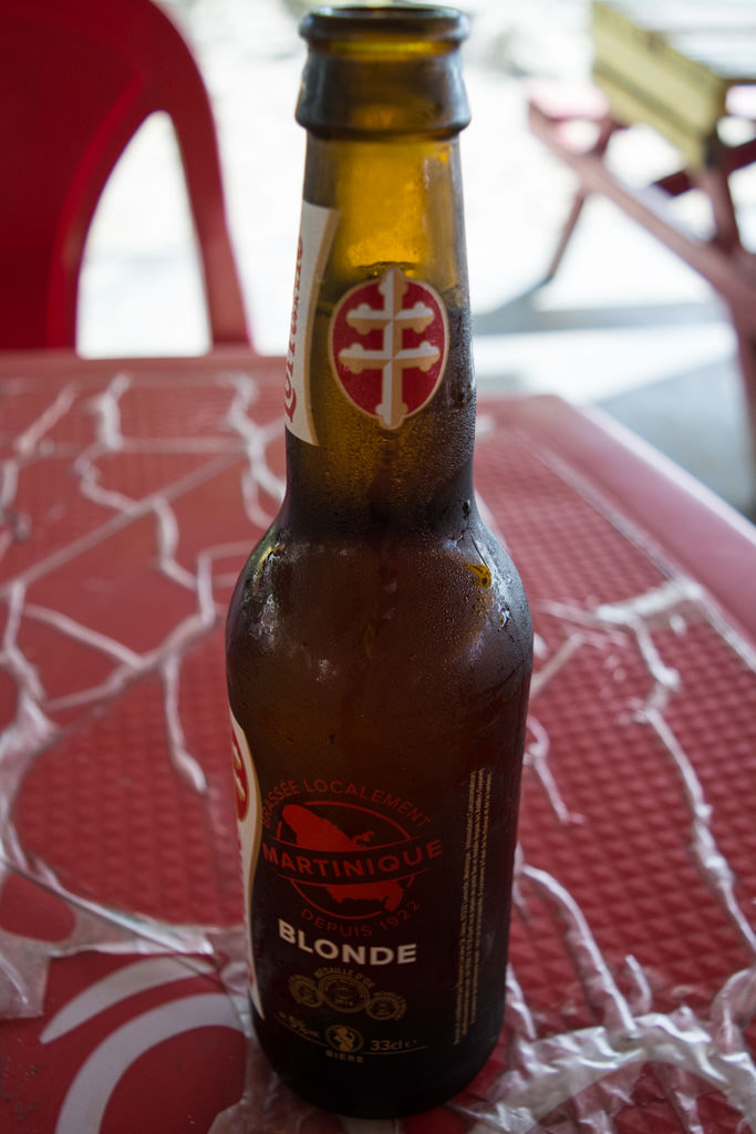 You might want to try Martinique's local beer, known as Lorraine. Photo © 2015 Aaron Saunders