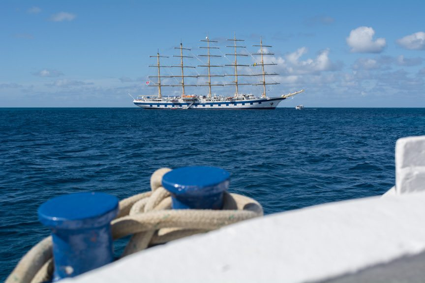 Returning to Royal Clipper in the late afternoon...Photo © 2015 Aaron Saunders