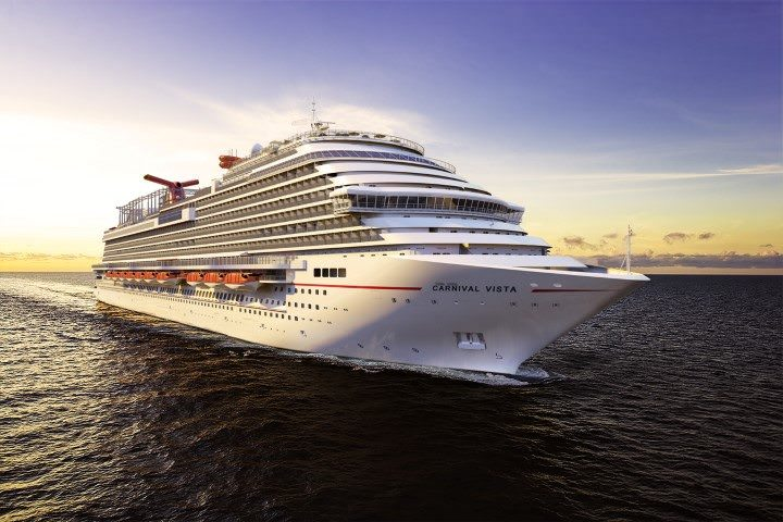 Carnival Vista, Carnival's newest and largest Fun Ship to-date, sets sail on May 1, 2016. Rendering courtesy of Carnival Cruise Lines.