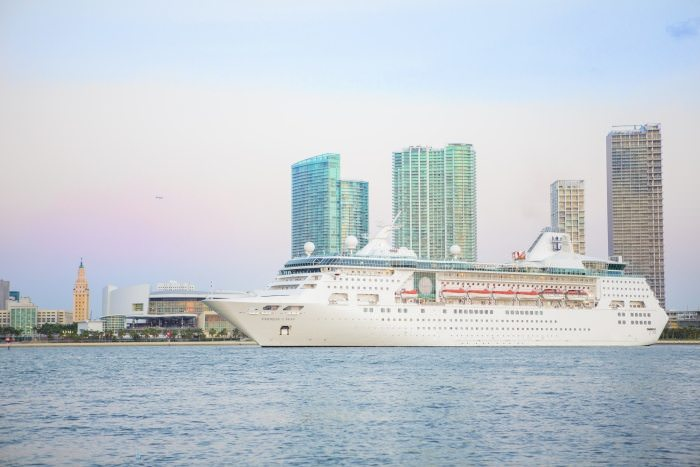 Empress of the Seas upon her triumphant return to Miami. Photo courtesy of Royal Caribbean