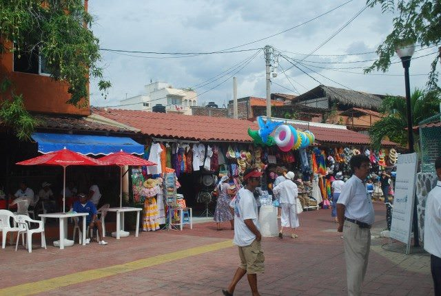 The colorful marketplace in Zihuatanejo