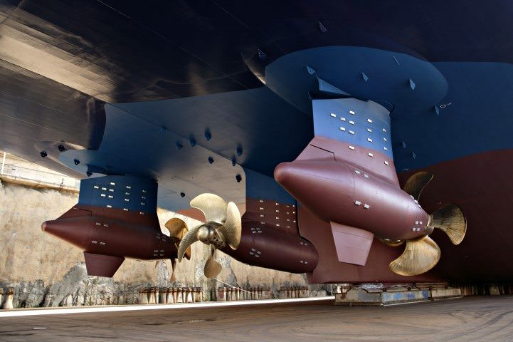 Carnival Vista will feature ABB Azipod propulsion units like the ones shown here. Photo courtesy of ABB.