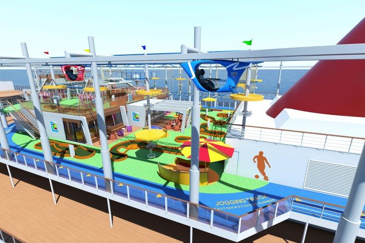 Get ready for the SkyRide aboard Carnival Vista. Rendering courtesy of Carnival Cruise Lines.
