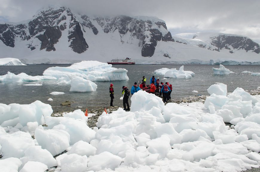During our voyage, we saw many sides of Antarctica: the beautiful...Photo © 2015 Aaron Saunders
