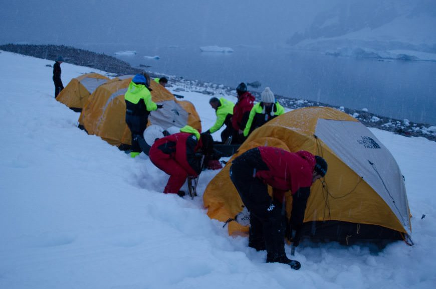 Hurtigruten even offers an optional, albeit expensive, overnight tenting excursion in Antarctica. Photo © 2015 Aaron Saunders