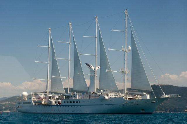 Windstar's previous three ships, including Wind Star, pictured above, all featured sail power in addition to diesel propulsion. Photo © 2013 Aaron Saunders