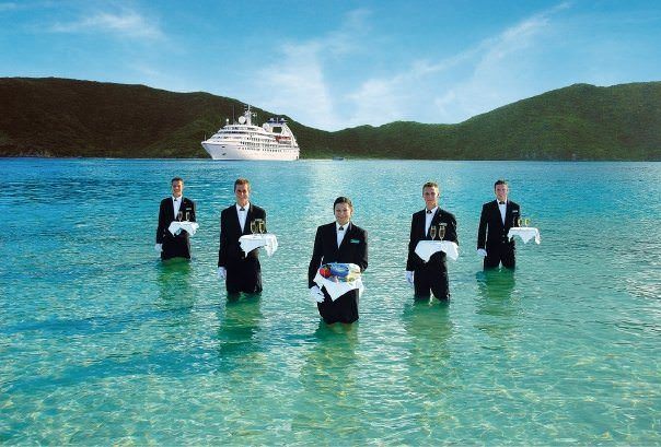 Just like this - but with more ice! Photo courtesy of Seabourn.
