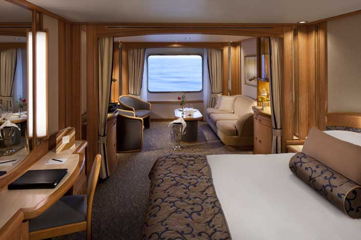 As Seabourn Spirit: Elegant, pleasing suites were the staple of the ship. Aaron Saunders' collection.