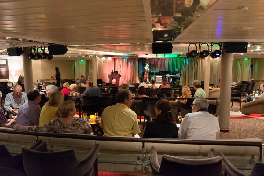 ...in the Show Lounge on Deck 5. Photo © 2016 Aaron Saunders