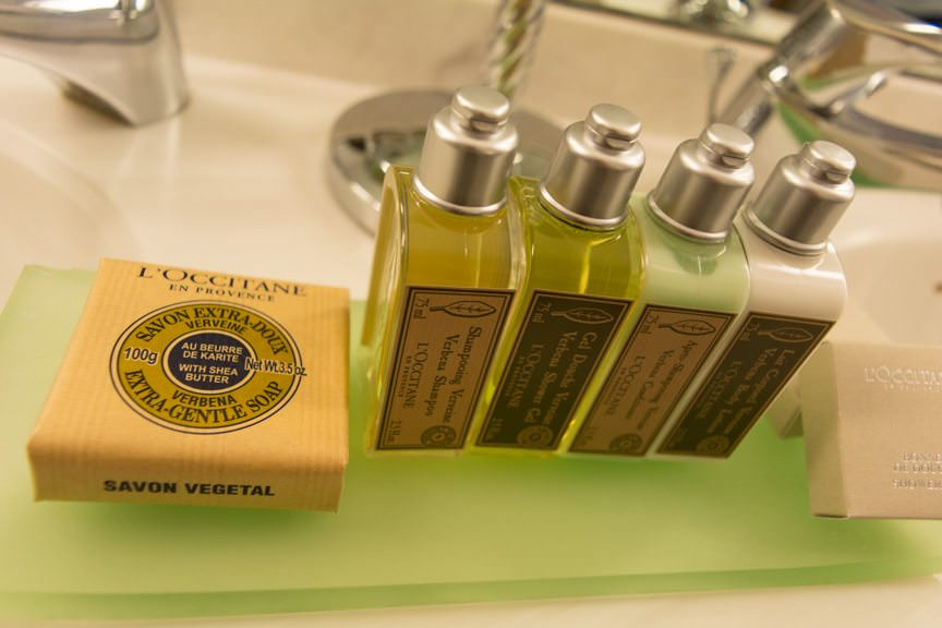 ..and French-milled L'Occitane toiletries, which grace each suite category aboard Star Breeze. Photo © 2016 Aaron Saunders