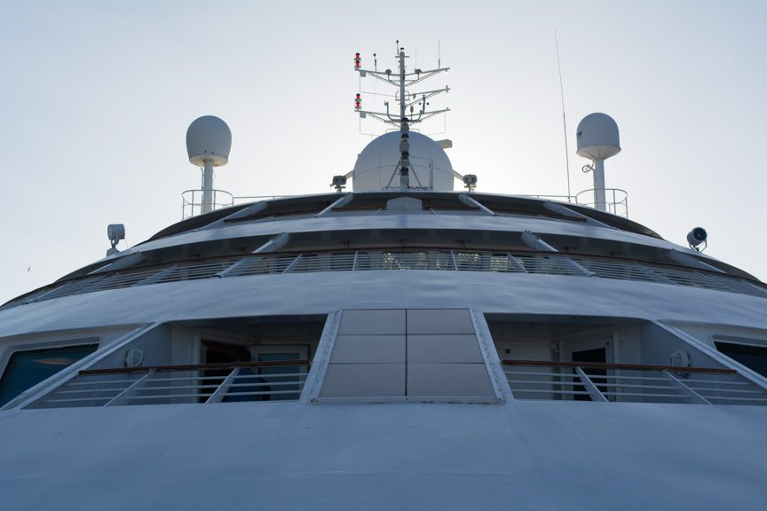 Star Breeze Face, as viewed from Deck 5 Forward. Photo © 2016 Aaron Saunders
