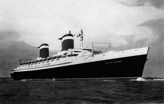 The S.S. United States was launched in 1952, and set the transatlantic speed record for fastest crossing on her maiden voyage. Photo courtesy of Wikipedia / Creative Commons