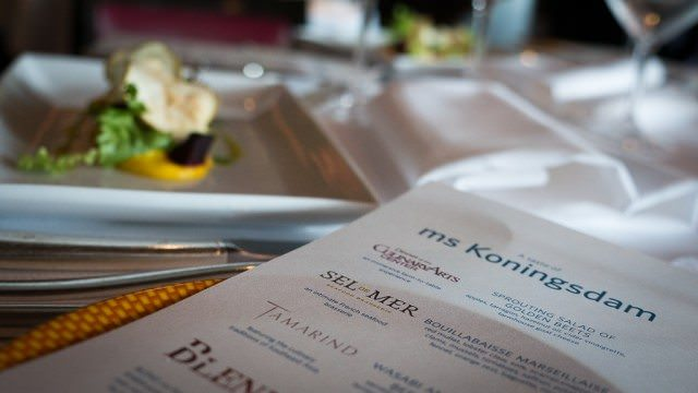 We got to sample menus that will debut on Holland America Line's Koningsdam. © 2016 Ralph Grizzle