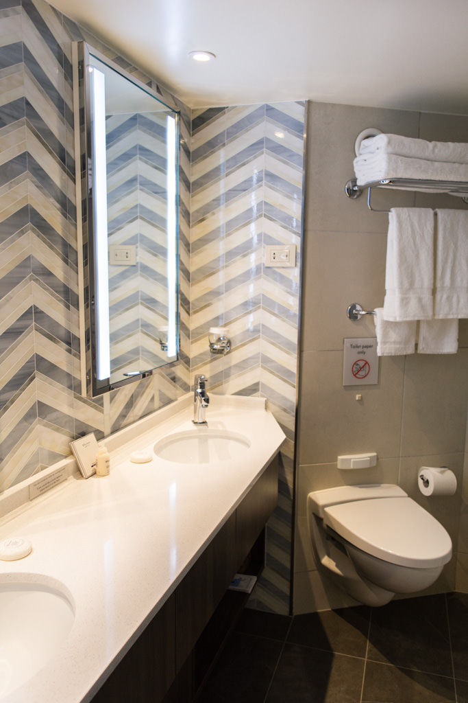 Nearly every aspect of the bathrooms in suites have been changed - for the better. Photo © 2016 Aaron Saunders