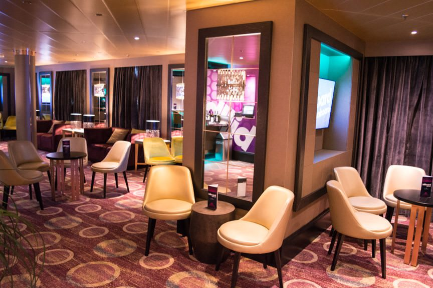 The redone Casino Bar also doubles as seating for the Billboard Onboard venue. Photo © 2016 Aaron Saunders