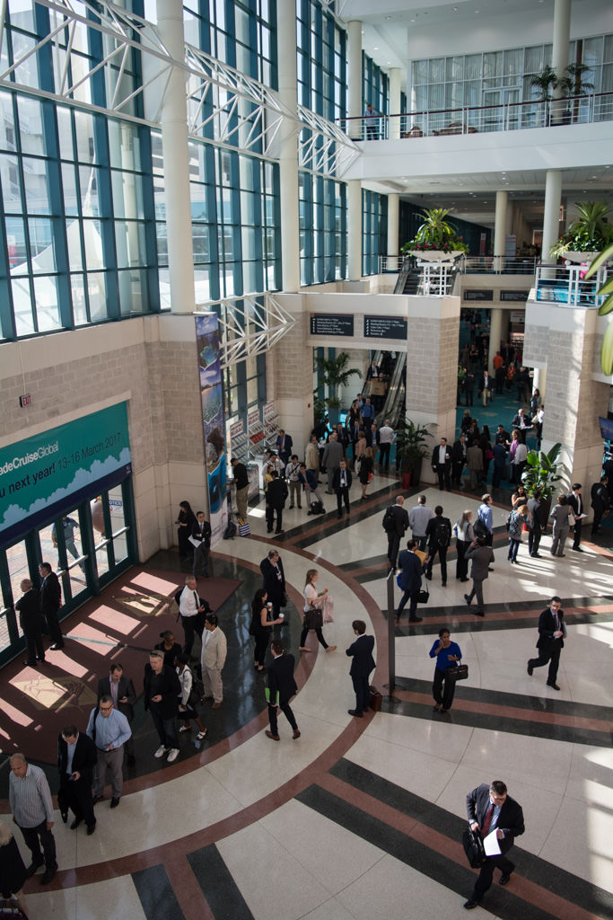 The Fort Lauderdale convention center was a hive of activity with Seatrade Cruise Global this week. Photo © 2016 Aaron Saunders