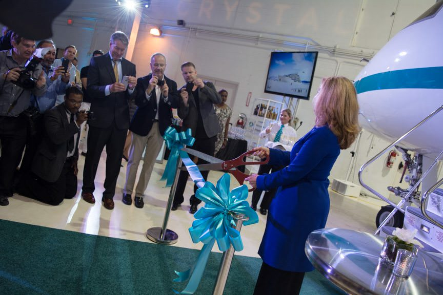 Cutting the ribbon...Photo © 2016 Aaron Saunders
