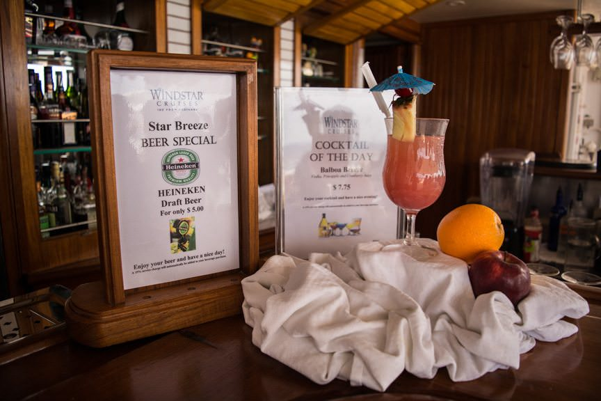 ...and maybe enjoy the Drink of the Day up at the Star Bar on Deck 8. Photo © 2016 Aaron Saunders