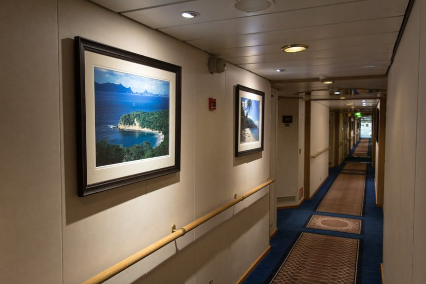 Step out onto the Deck 6 corridor...Photo © 2016 Aaron Saunders