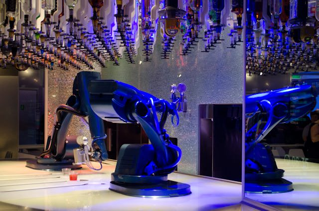 The Bionic Bar was first introduced aboard Quantum of the Seas. Photo © 2014 Aaron Saunders