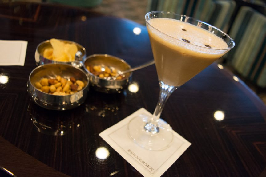Before long, it's time for an Espresso Martini in The Bar on Deck 5...Photo © 2016 Aaron Saunders