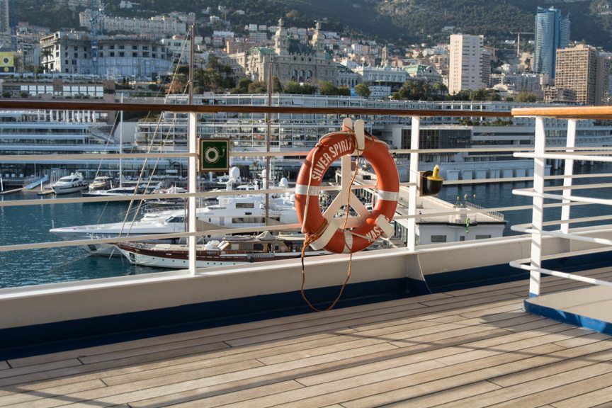 Monte Carlo, as seen from Deck 9 of the Silver Spirit. Photo © 2016 Aaron Saunders