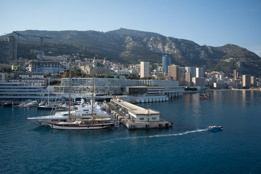 Welcome to Sunny Monte Carlo, Monaco! Silver Spirit docked here today from 7:00 a.m. until Midnight. Photo © 2016 Aaron Saunders