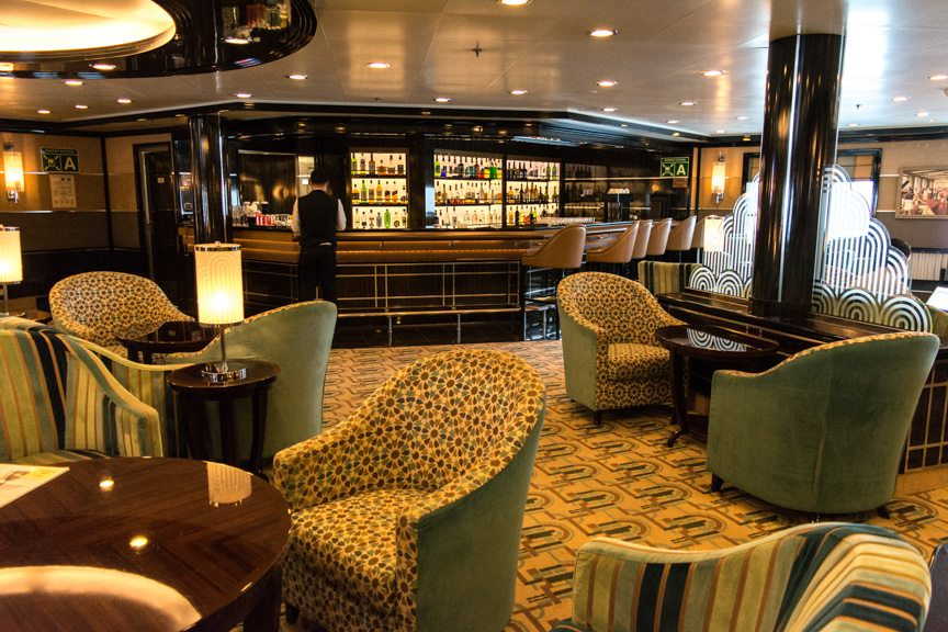 The Bar aboard Silver Spirit is still one of my favorite public rooms of any ship. Photo © 2016 Aaron Saunders