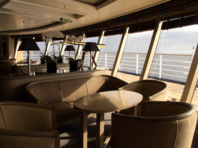 ...and created one of the best Observation Lounges in the fleet. Photo © 2012 Aaron Saunders