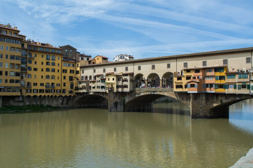 The guided tour included all the major sites, like the famous Ponte Vecchio bridge. Photo © 2016 Aaron Saunders