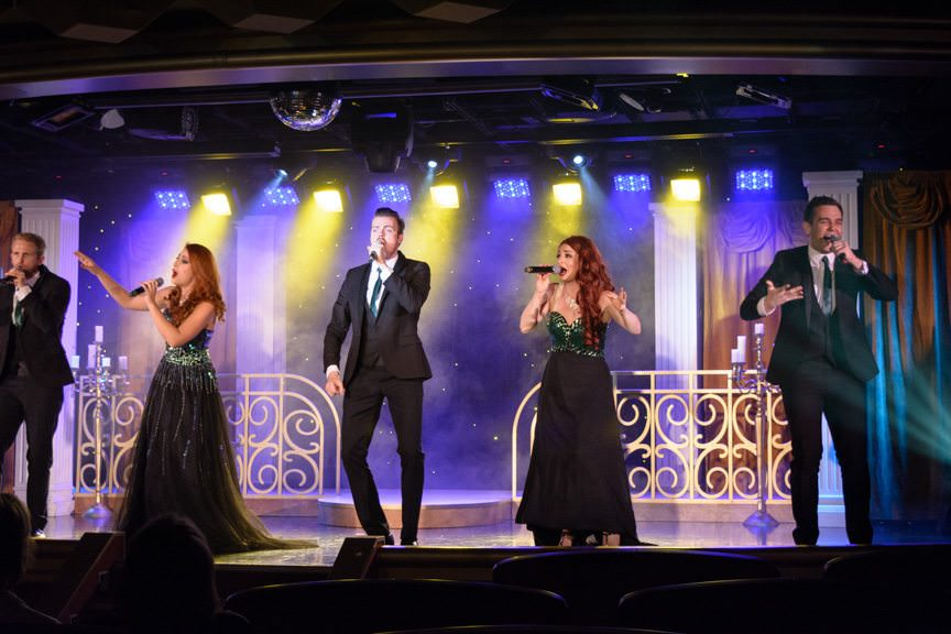 Dinner was followed by another better-than-expected performance by the Artists of Silversea...Photo © 2016 Aaron Saunders