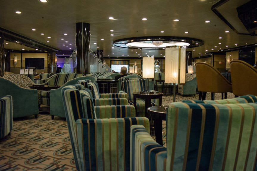 ...and a warming nightcap in The Bar on Deck 5. Good night! Photo © 2016 Aaron Saunders
