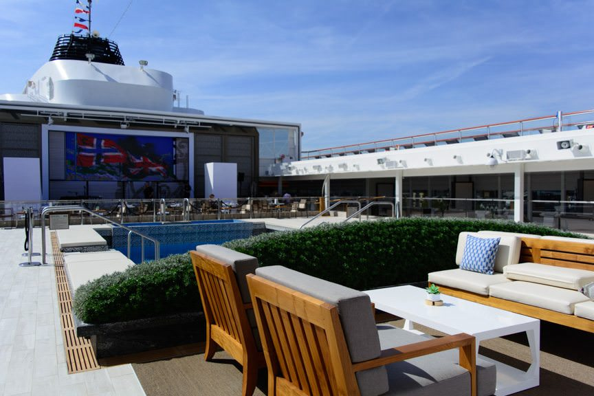 Like Viking Star, Viking Sea boasts what I consider to be the best pool deck in the industry, hands-down. Photo © 2016 Aaron Saunders