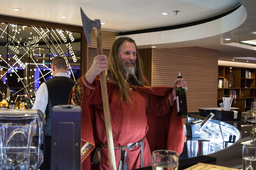 What do you do when you christen a Viking Cruises ship? Bring along a real Viking, of course! Photo © 2016 Aaron Saunders
