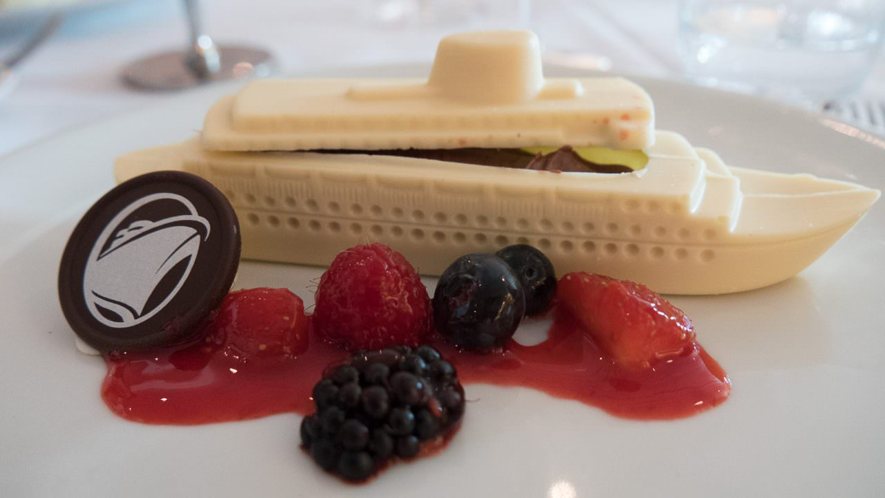 White chocolate ship Koningsdam