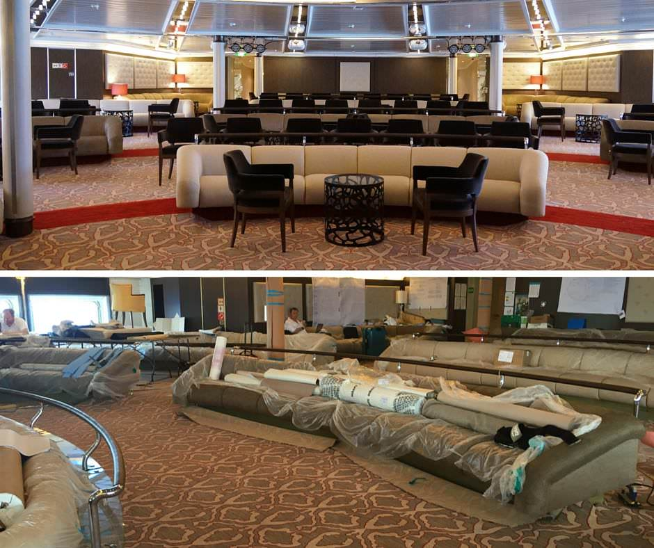 Star Pride's public areas received a fairly substantial makeover. Photo courtesy of Windstar Cruises.