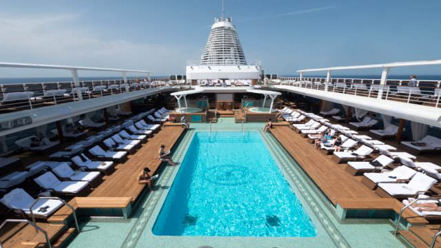 Pool deck on Regent Seven Seas Explorer. © 2016 Ralph Grizzle