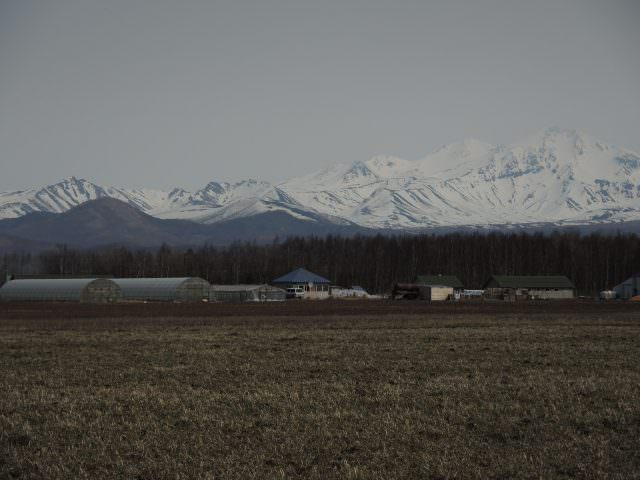 A dramatic view of the many volcanic peaks just south of Petropavlovsk.