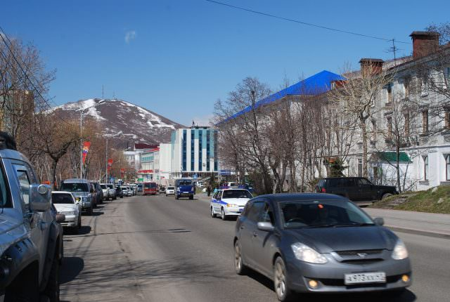 In the city center of the older part of Petropavlovsk