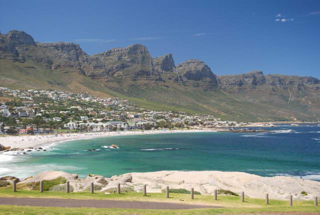 The beautiful seaside suburb of Camps Bay on the Cape Peninsula